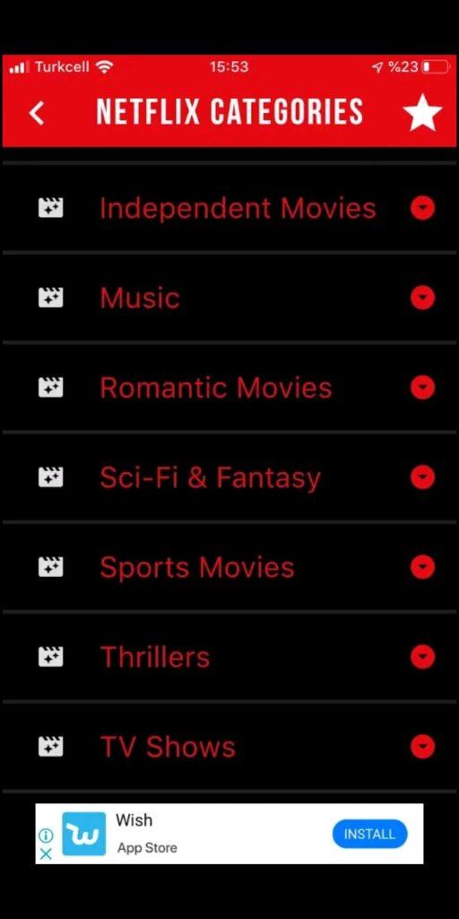 FindFlix Gizli Kategoriler