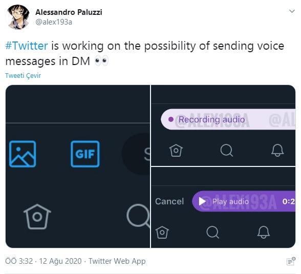 Alesssandro Paluzzi twitter Sesli DM