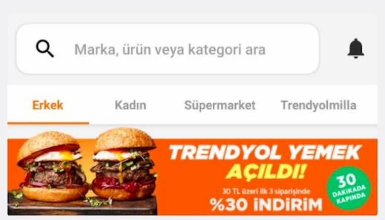 Trendyol Yemek Siparişi İşinde