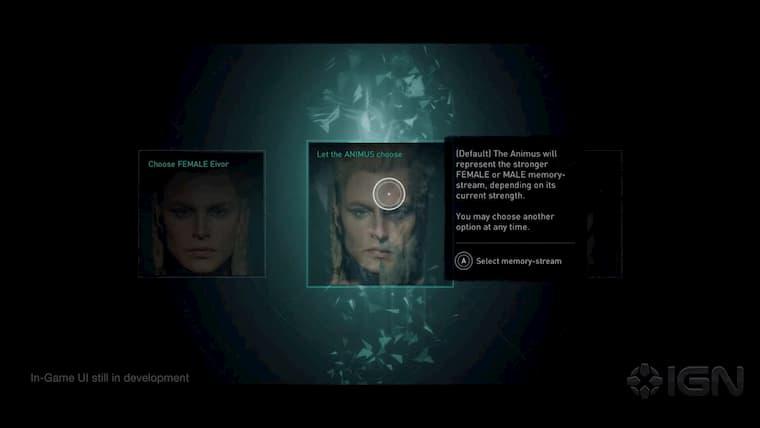 Assasin's Creed Valhalla Karakter Seçim Ekranı