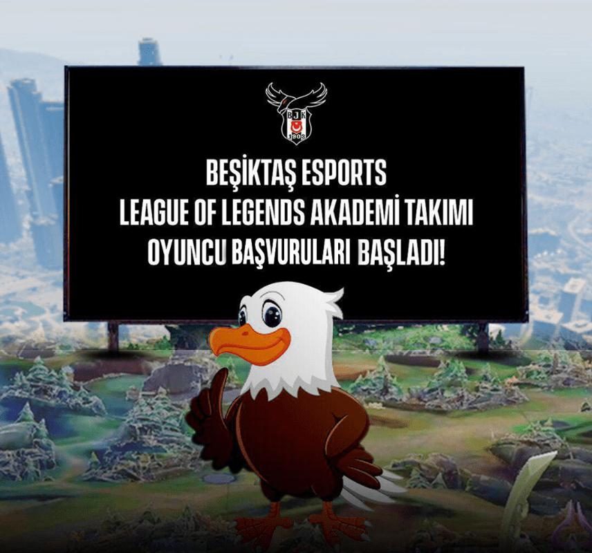 Beşiktaş E-Spor Takıma Alım Paylaşım Resmi