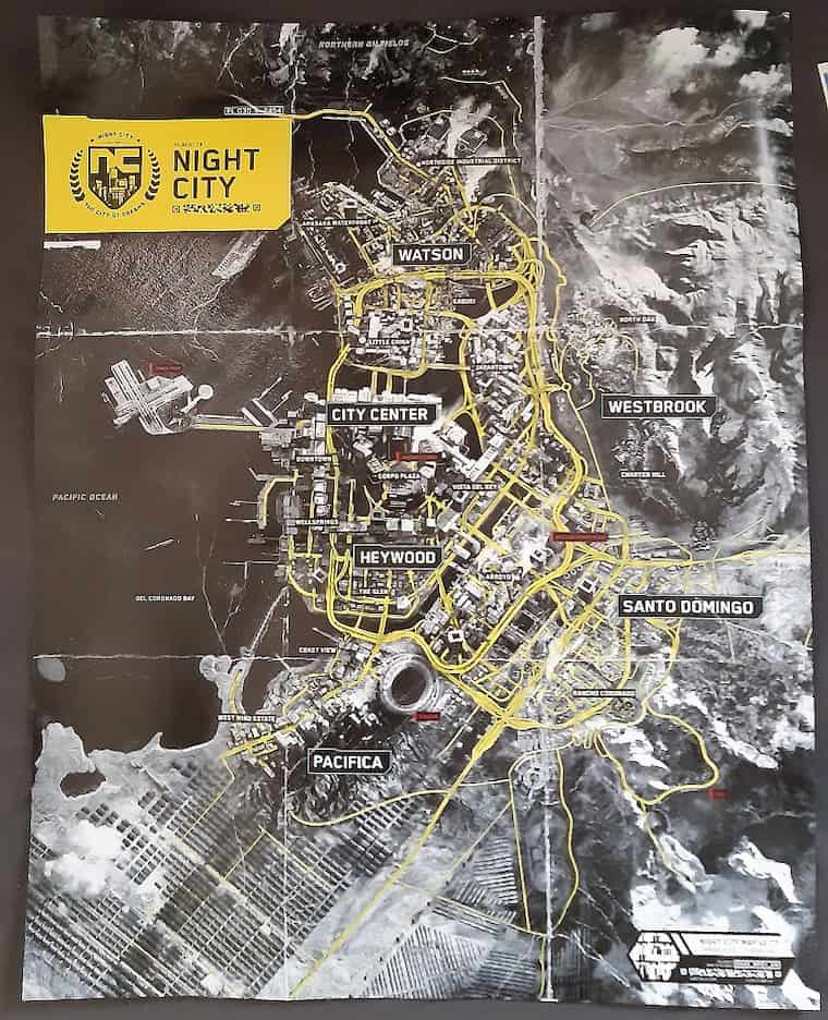 Cyberpunk 2077 Night City Haritası