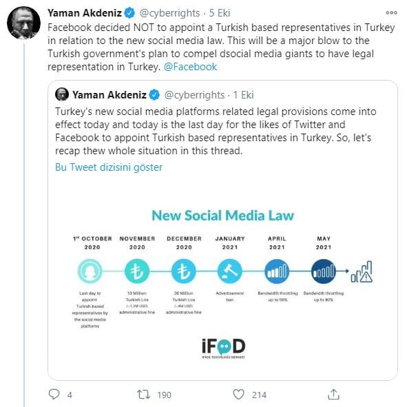 Facebook Sosyal Medya Yasasını Reddetti
