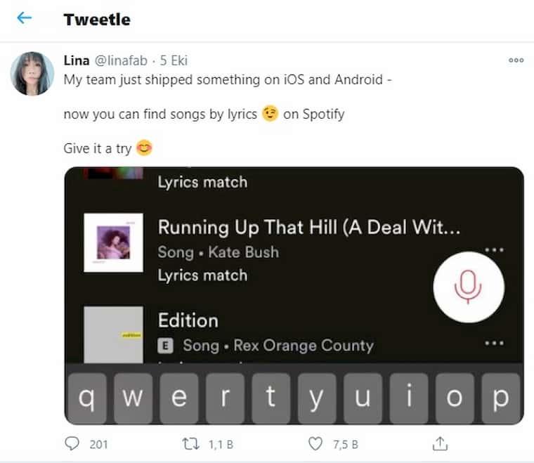 Linafab Spotify'ın Yeni Güncellemesini Paylaştı