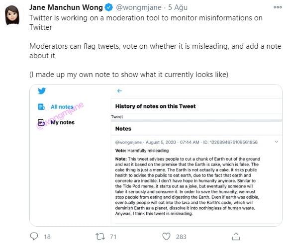 Twitter Yanlış Bilginin Önüne Geçiyor