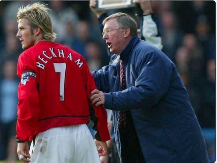 David Beckham ve Sir Alex Ferguson