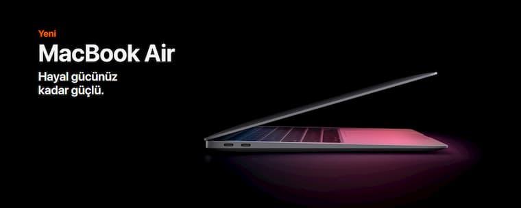Rakiplerinden 3 Kat Hızlı Olan Yeni MacBook Air