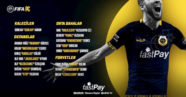 FastPay WildCats FIFA 21 PC Oyuncuları Açıklandı