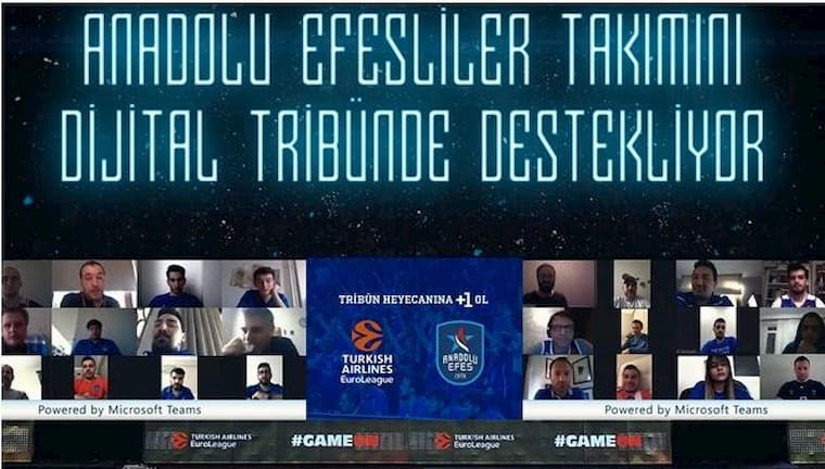 Anadolu Efes'in Dijital Taraftarları Tribünde