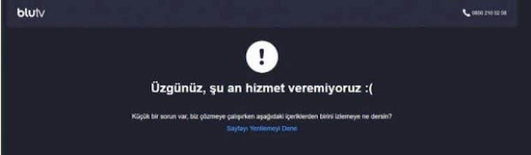 BluTV Çöktü, Ne Zaman Düzelir?