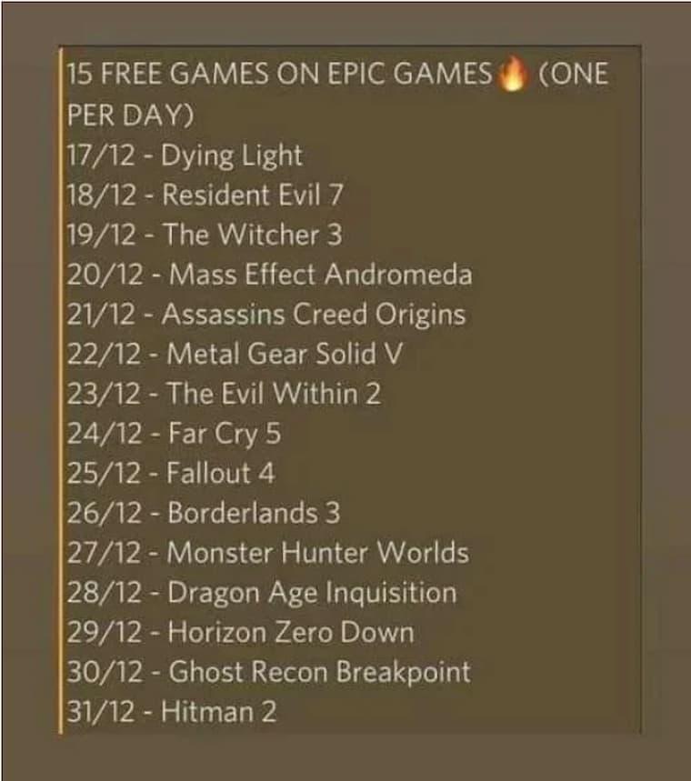 Epic Games'in Ücretsiz Dağıtacağı Oyunlar