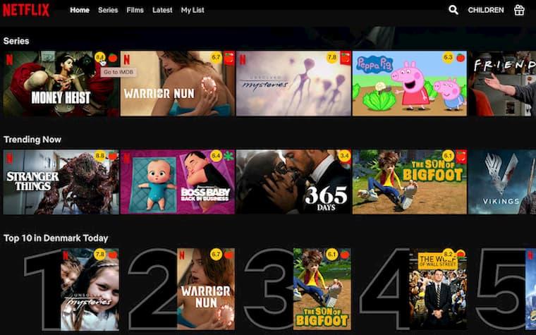 Netflix Eklentileri IMDB Ratings for Netflix