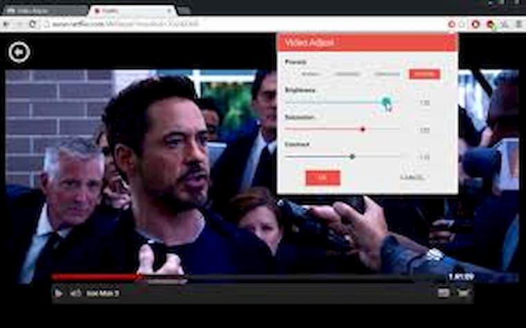 Netflix Eklentileri Video Adjust for Netflix
