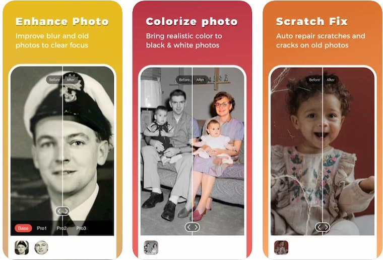 Eskimiş Fotoğrafları Yenileyen Uygulama