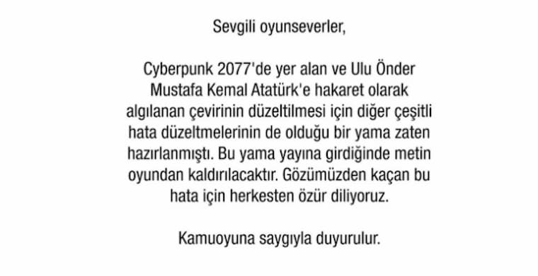 Cyberpunk 2077'daki Büyük Hatasına 23 Studios Tarafından Bir Açıklama Geldi