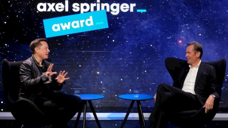 Elon Musk Ödül Töreninde