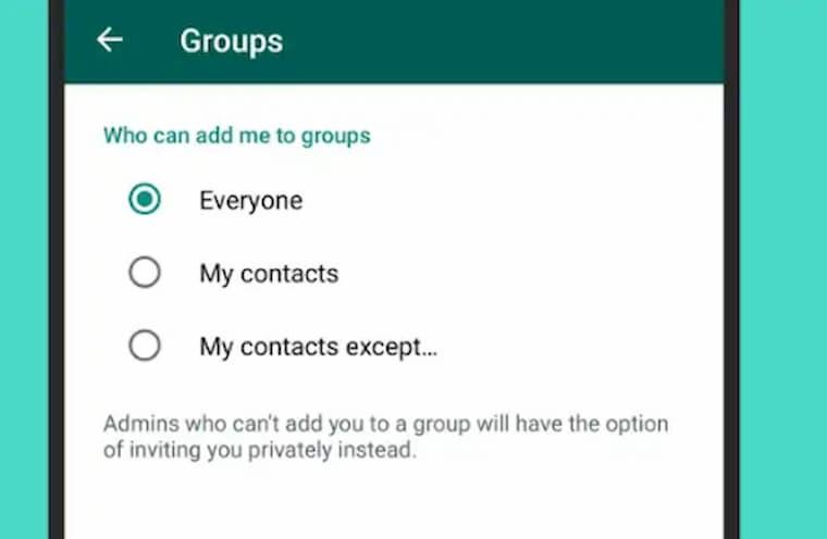 Kişiselleştirilmiş WhatsApp için Grup Ayarları