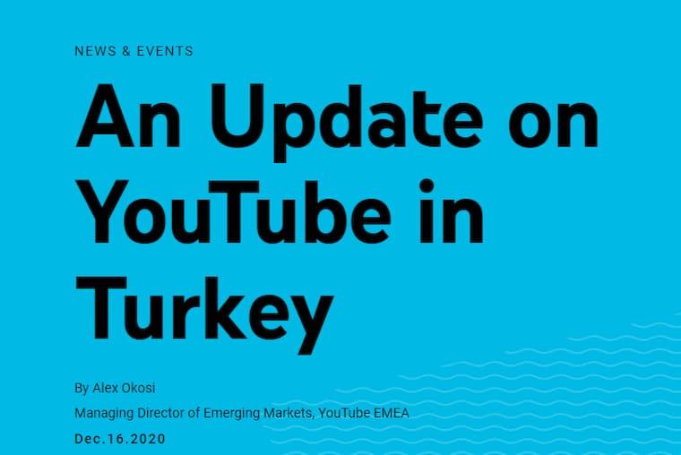 YouTube Türkiye Temsilcisi ile İlgili Açıklama Yaptı