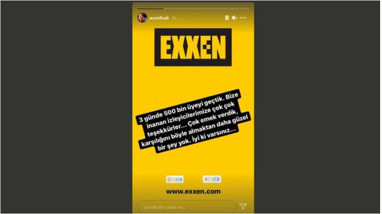 Acun Ilıcalı Exxen'in Abone Sayısını Açıkladı