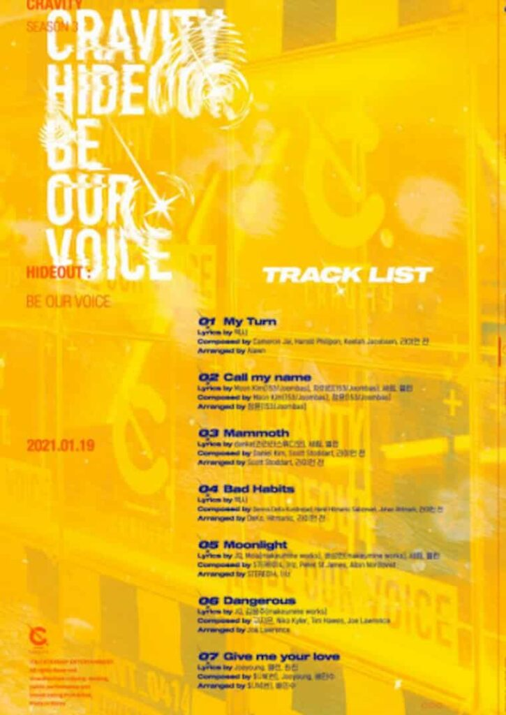 CRAVITY Be Our Voice Tracklist