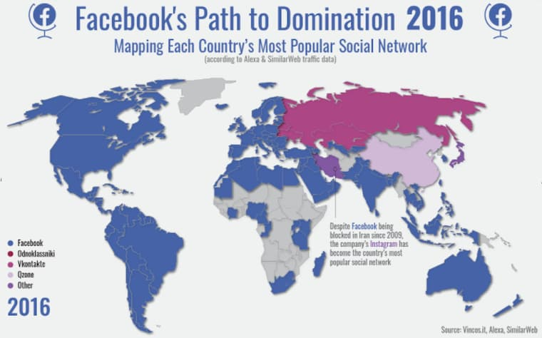 Facebook'un Hikayesinin 2016 Yılındaki Dağılımı