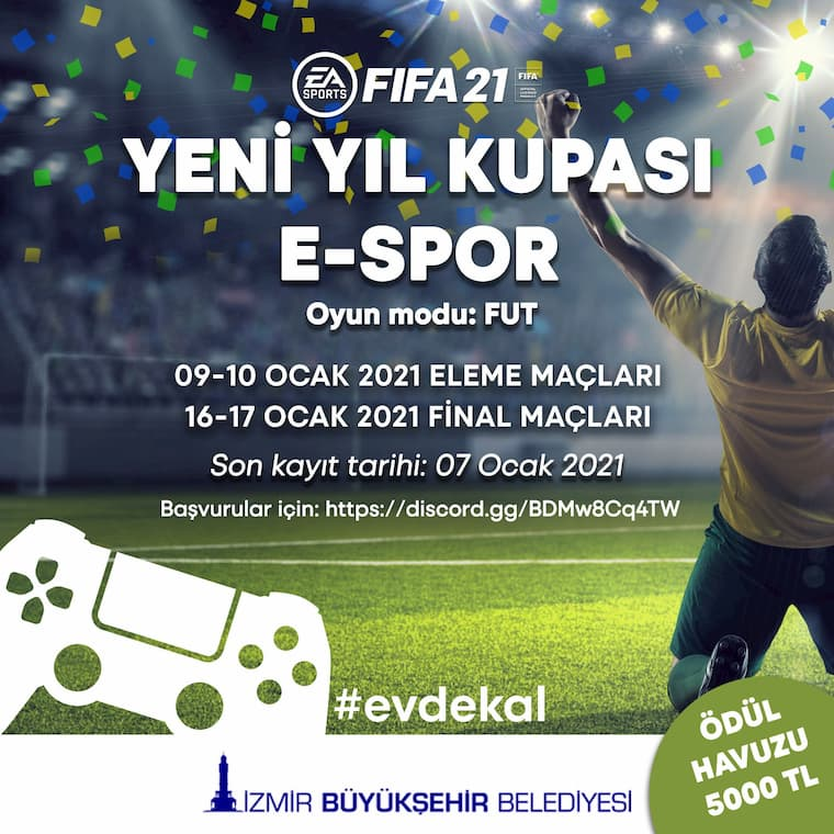 Ülkemizin Büyük Şehirlerinden Biri Olan İzmir FIFA 21 Turnuvası Düzenliyor