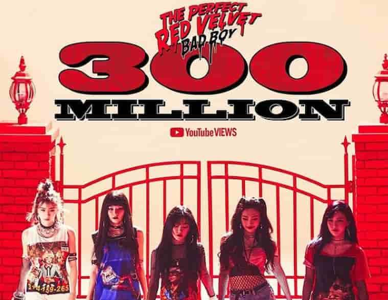 Red Velvet Bad Boy 300 Milyon Görüntülenmeyi Aştı