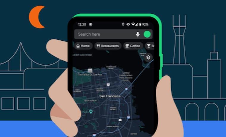 Google Haritalarda Karanlık Mod