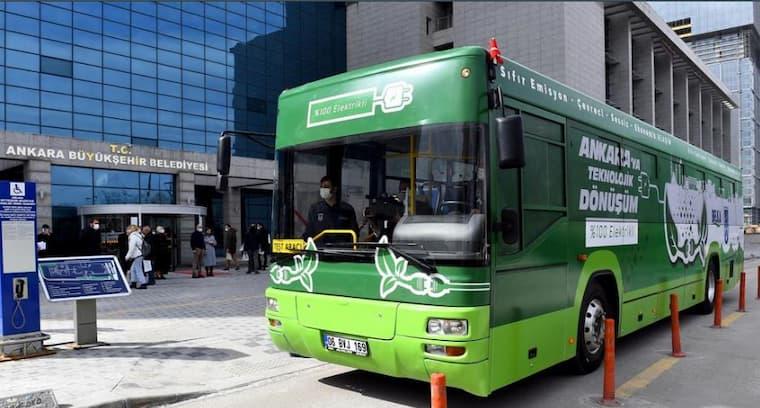 ankara elektrikli otobüs