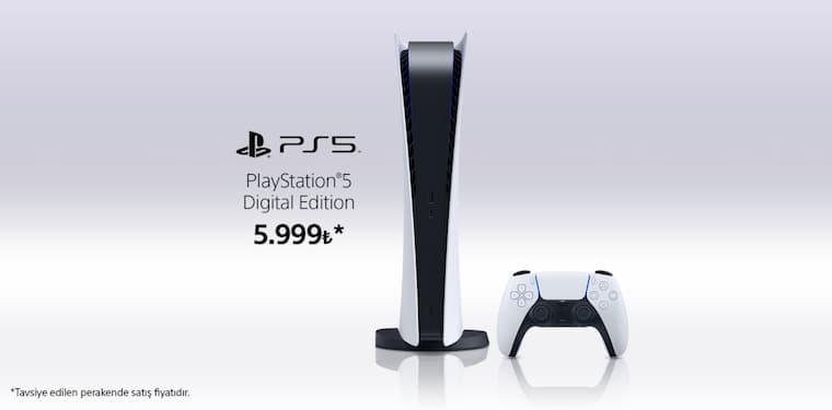 Resmi Playstation Türkiye Twitter Hesabının Paylaşmış Olduğu Playstation 5 Digital Edition Fiyatı
