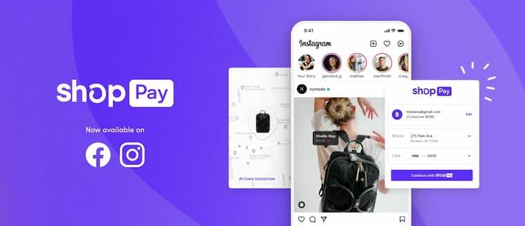 Shop Pay Facebook ve Instagram'da Kullanılabilir