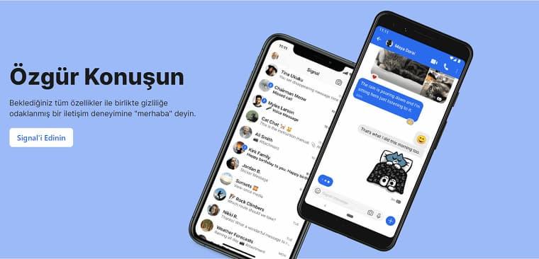 Son Zamanlarda Oldukça Popüler Olan Android Mesajlaşma Uygulaması Signal
