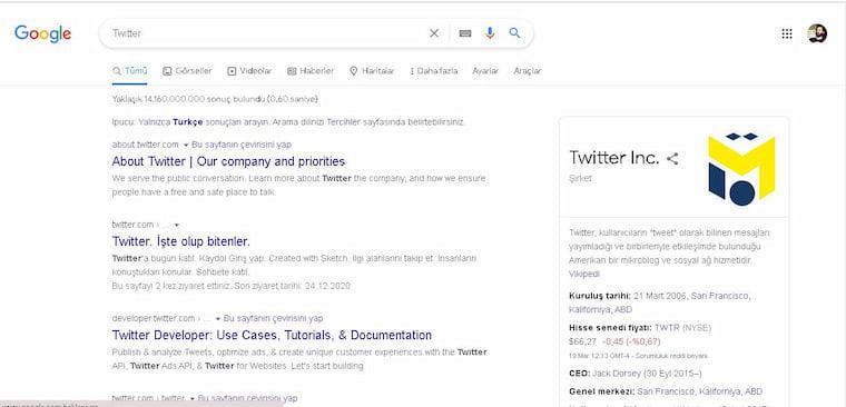 Google Twitter'ın Logosunu Değiştirdi