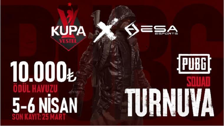 Kupa Vestel PUBG Turnuvası ESA Esports Eşliğinde Başlıyor