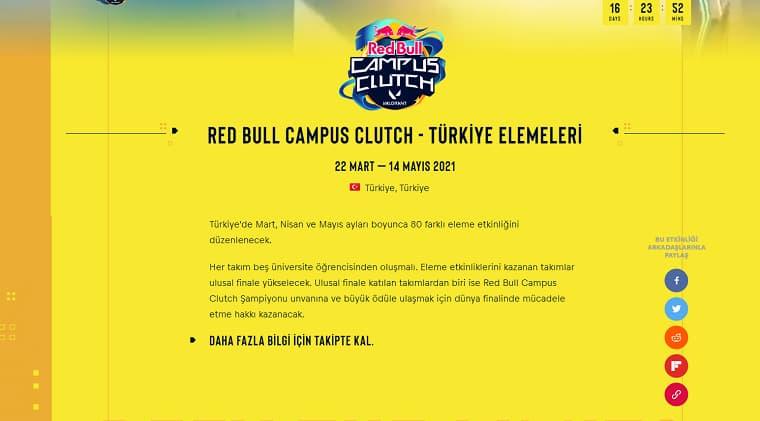 Dünyada İlk Kez ve En Büyüğü Gerçekleştirilecek Red Bull Campus Clutch Valorant Turnuvası Yakında Başlıyor