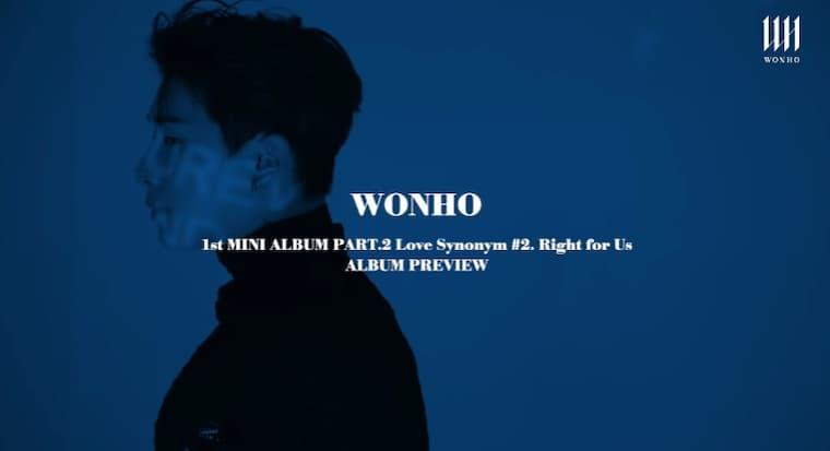 Wonho Love Synonym Yayınlandı