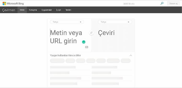 En İyi Çeviri Bing Çevirmen