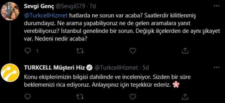 Turkcell Çöktü Diye Problem Yaşayan Kullanıcı