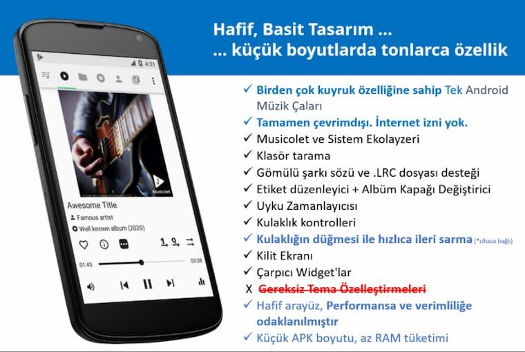 En İyi Android Uygulamalarından Musicolet