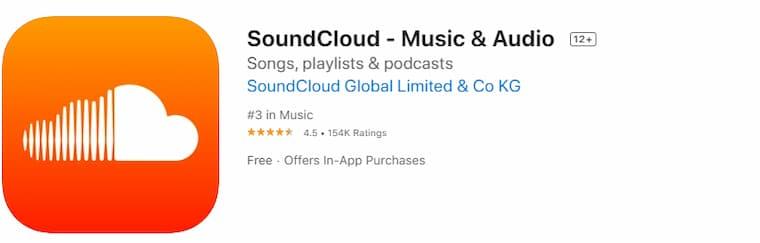 iPhone Müzik İndirme Programı SoundCloud