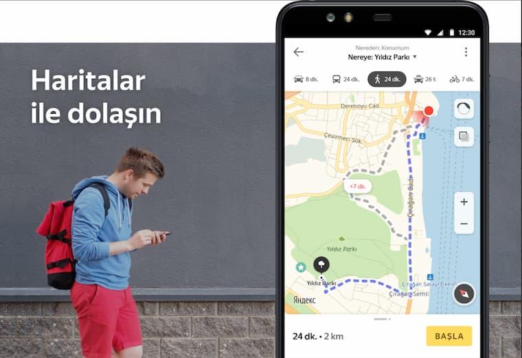 En İyi Navigasyon Uygulamalarından Bir Tanesi Yandex Maps