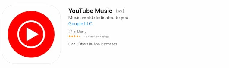 iPhone Müzik İndirme Programlarından YouTube Music