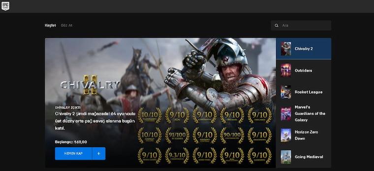 En İyi Oyun İndirme Siteleri Epic Games