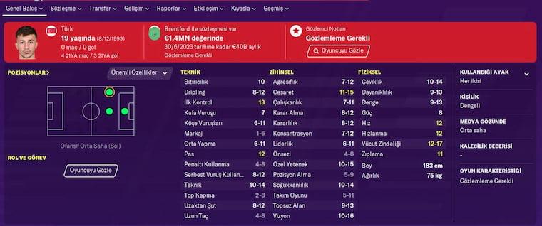 FM 2020 Türk Genç Yetenekler Halil Dervişoğlu