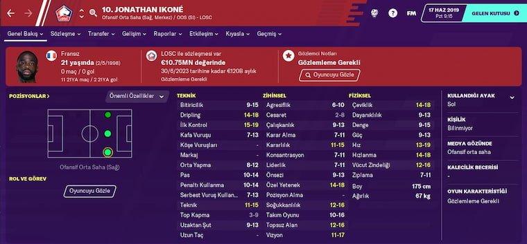 FM 2020 Sağ Kanat Oyuncusu Önerisi Jonathan İkone