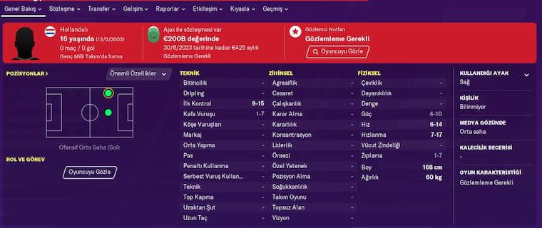 FM 2020 Wonderkids Türk Naci Ünüvar