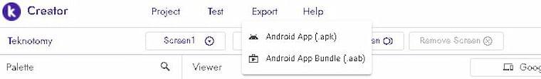 Kodular.io Mobil Uygulama Tasarlama Adım 7