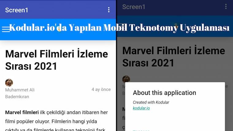 Kodular.io'da Mobil Uygulama Nasıl Yapılır?